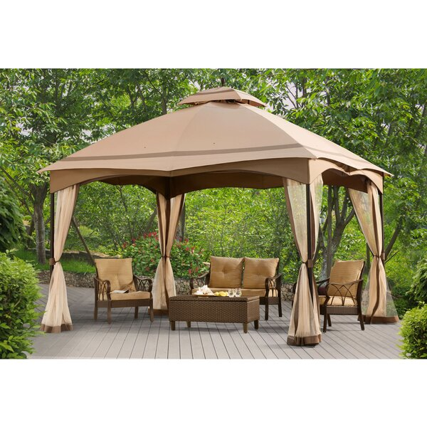 12 Ft. W x 10 Ft. D Metal Patio Gazebo by Sunjoy