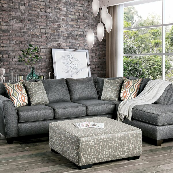 Hager Sectional Sofa With Ottoman By Red Barrel Studio