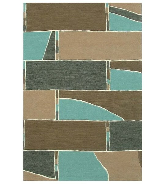 Modern Blue/Brown Area Rug by Acura Rugs