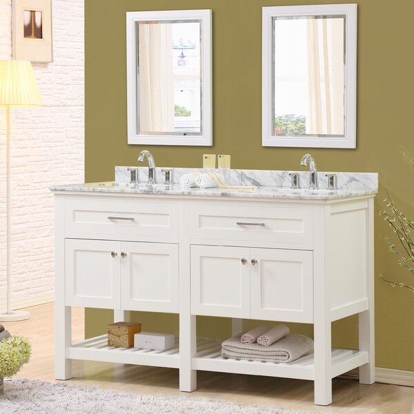Ferdinand 60 Double Bathroom Vanity Set with Mirrors by Latitude Run