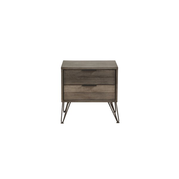 Estefania 2 - Drawer Nightstand in Gray by Union Rustic Union Rustic