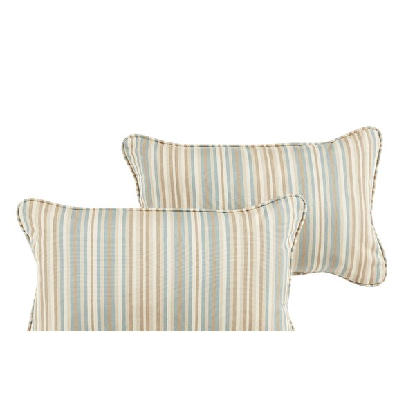 Cavisson Sunbrella Gavin Mist Lumbar Pillow Set (Set of 2) by Rosecliff Heights