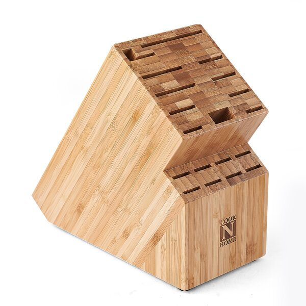 Cook N Home Bamboo 19 Slot Knife Storage Block by Cook N Home