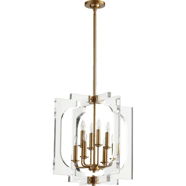 Pavan 8 - Light Unique / Statement Geometric Chandelier by Everly Quinn Everly Quinn