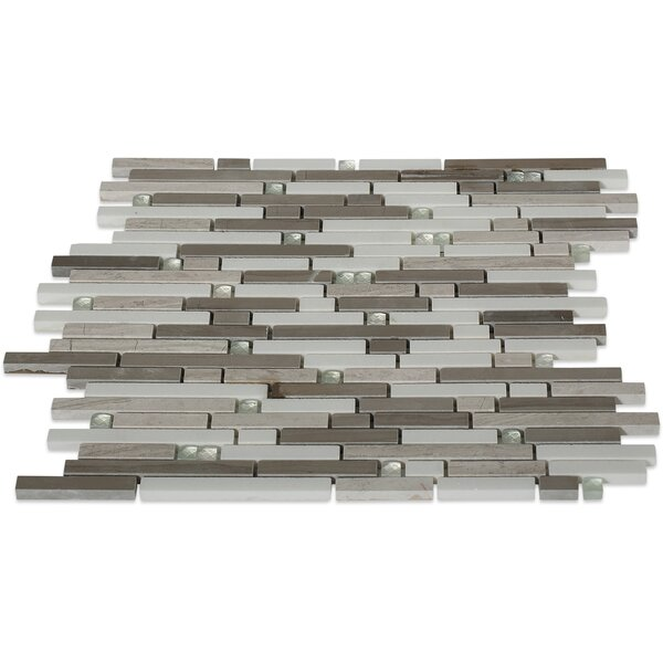 Fable Random Sized Marble Mosaic Tile in The Woodsman by Splashback Tile