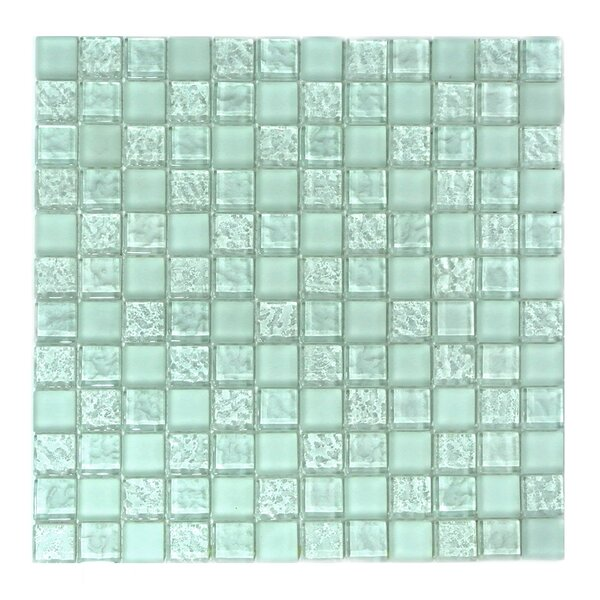 Ice Age 1 x 1 Glass Mosaic Tile in Freeze by Abolos