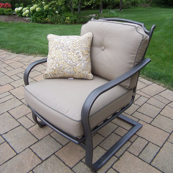 Deep Seating Spring Chair with Cushions (Set of 2) by Oakland Living