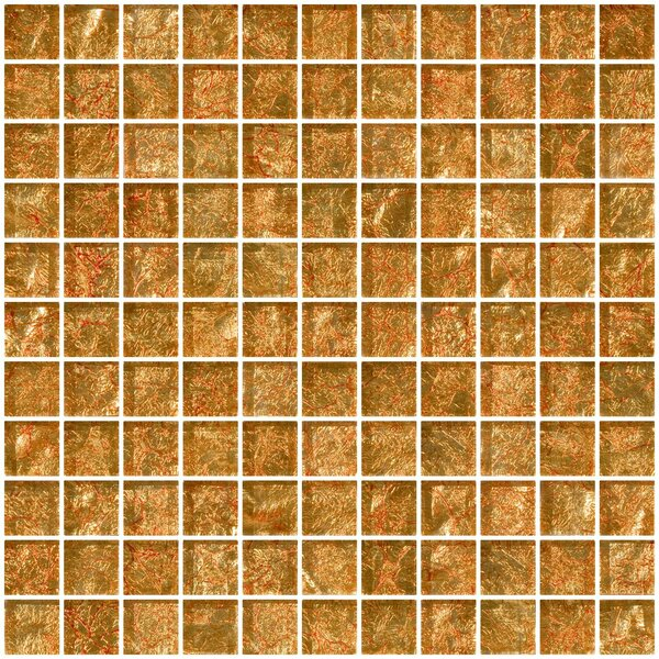 1 x 1 Glass Mosaic Tile in Fire Bronze by Susan Jablon
