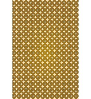 Jaime Elegant Cross Design Brown/Cream Indoor/Outdoor Area Rug by George Oliver
