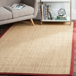 Hillsborough  Beige / Burgundy Area Rug