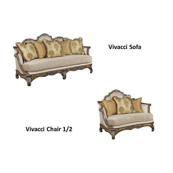 Vivacci 2 Piece Living Room Set By Benetti's Italia