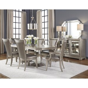 sorrel brushed platinum upholstered dining chair