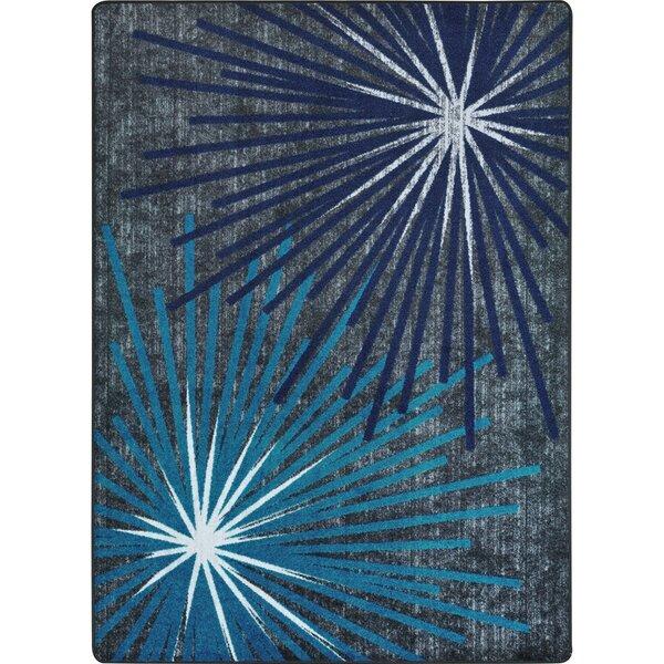 One-of-a-Kind Frasher Sputnik Hand Woven Blue/Gray Area Rug by Ivy Bronx