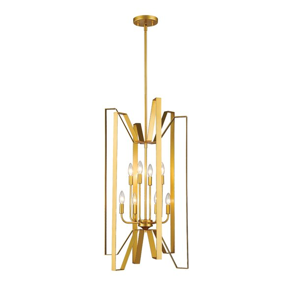 Kavin 8-Light Candle Style Geometric Chandelier By Ebern Designs