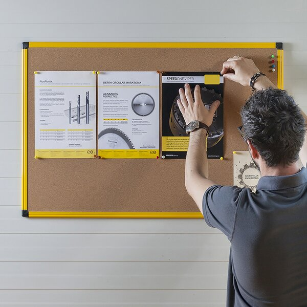 Wall Mounted Bulletin Board by Mastervision