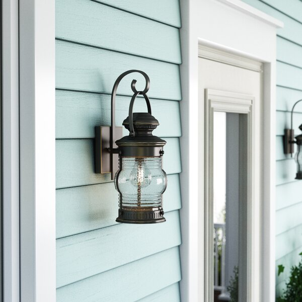 Laxford 1-Light Outdoor Wall Lantern by Beachcrest Home