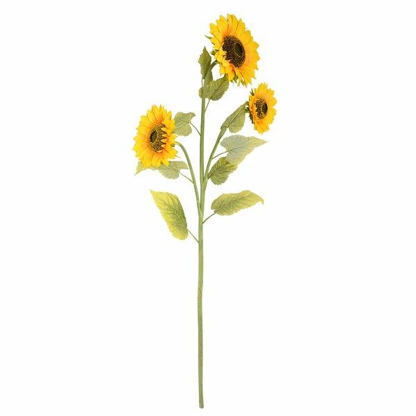 Artificial Sunflower Spray Branch by Gracie Oaks