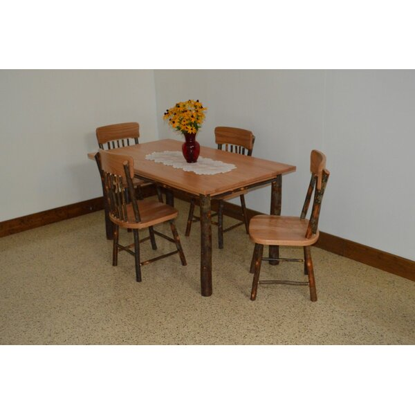 Wyton 5 Piece Solid Wood Dining Set by Loon Peak