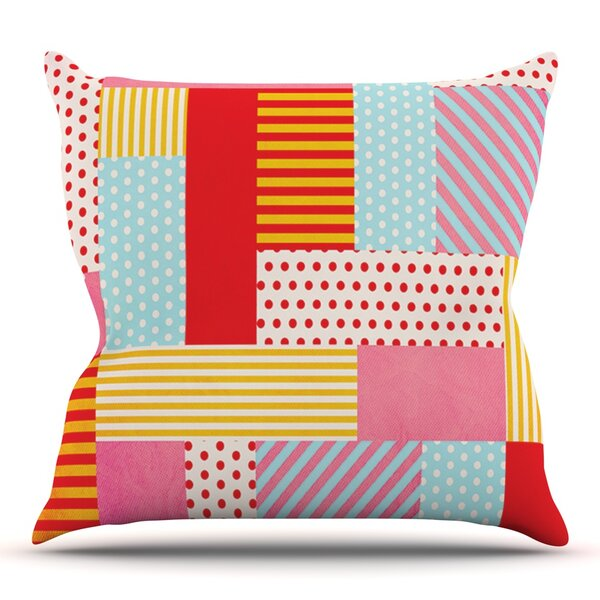 Geometric Pop by Louise Machado Outdoor Throw Pillow by East Urban Home