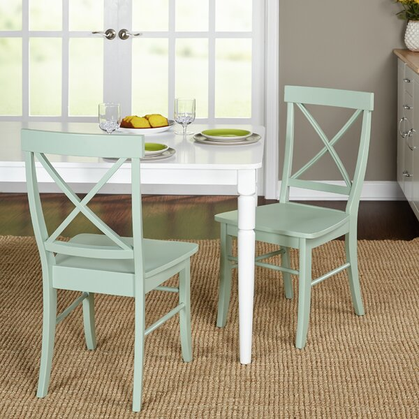 Brookwood Solid Wood Cross Back Side Chair (Set Of 2) By Beachcrest Home