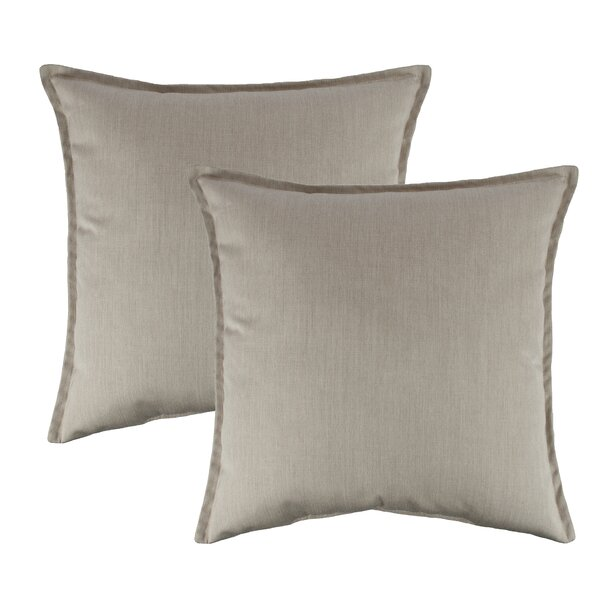 Flax Outdoor Sunbrella Throw Pillow (Set of 2) by Austin Horn Classics