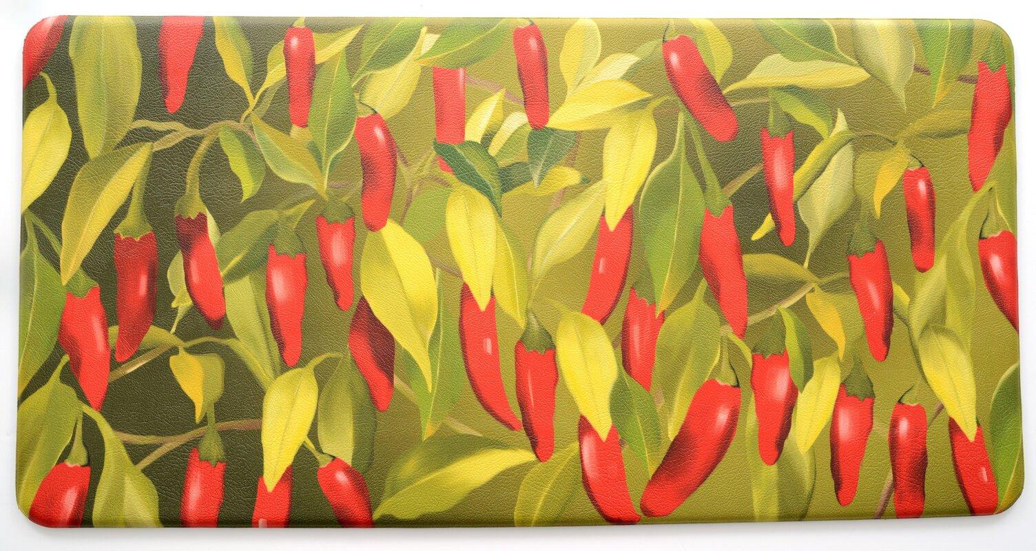 Red Barrel Studio Easterbrooks Chili Pepper Kitchen Mat & Reviews ...