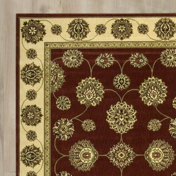 Barnum Beige/Red/Green Area Rug by Astoria Grand
