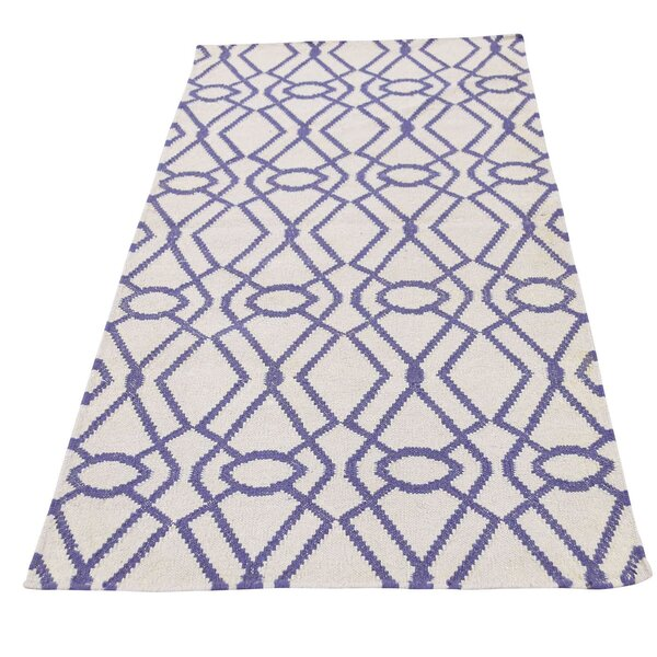 Durie Kilim Flat Weave Reversible Hand-Knotted Taupe Area Rug by House of Hampton