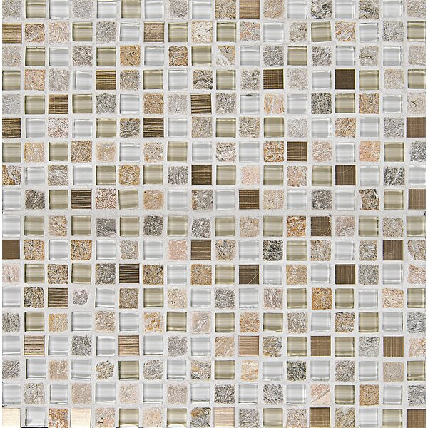Queenstown 12 x 12 Stone and Glass Mosaic Tile in Toko by Grayson Martin