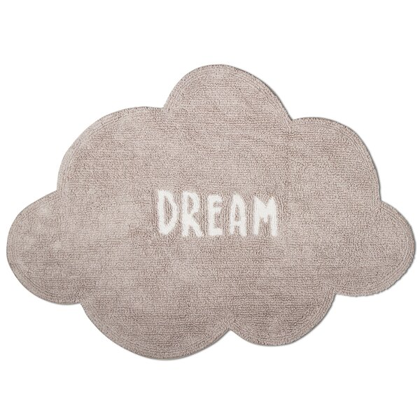 Dream Cloud Cotton Gray Area Rug by TAG