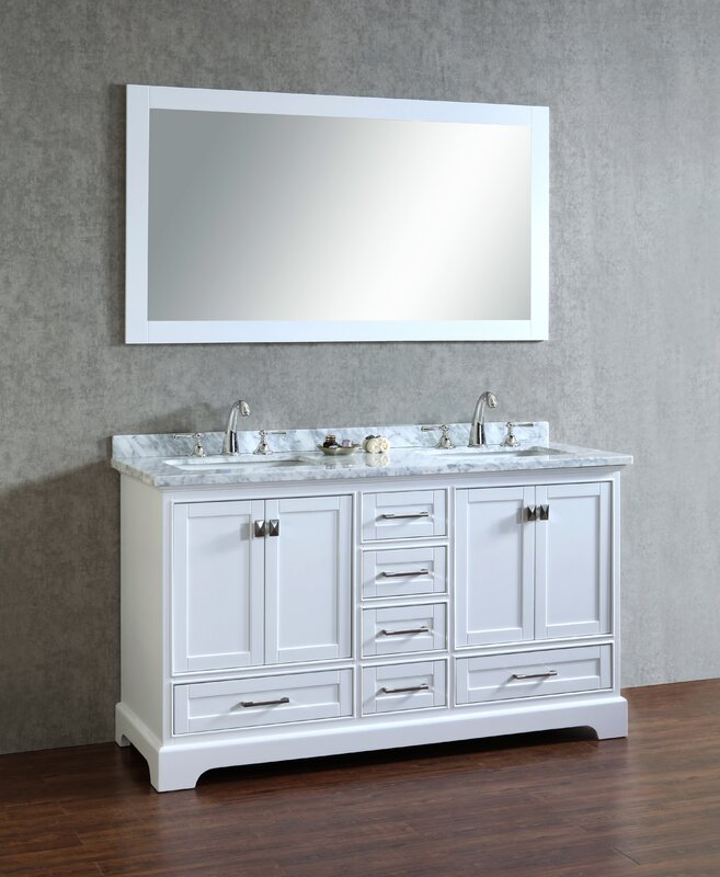 Default nameDarby Home Co Lucia 60  Double Sink Bathroom Vanity Set with  . Bathroom Vanity 60 Double Sink. Home Design Ideas