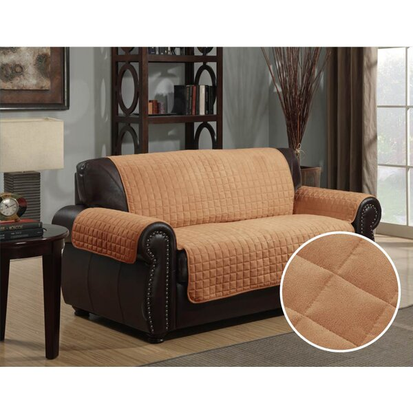 Microsuede Box Cushion Loveseat Slipcover by Kashi Home