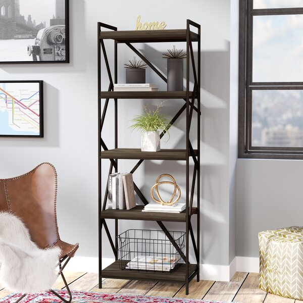 Derwood Metal Distressed Etagere Bookcase by Mercury Row