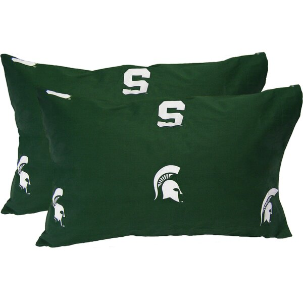 Collegiate Michigan State Spartans Pillowcase (Set of 2) by College Covers