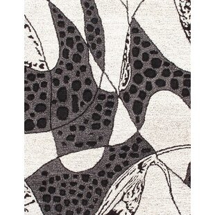 Affordable Hand-Tufted Black/White Area Rug ByPasargad NY