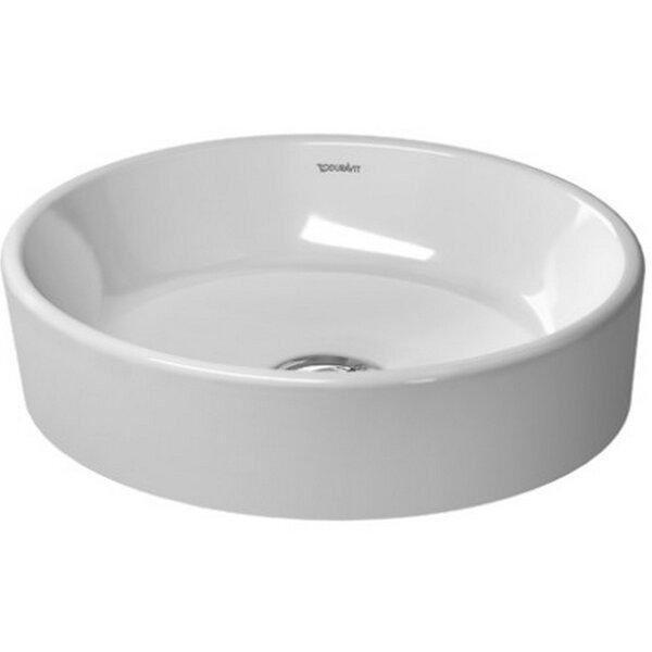 Starck Ceramic Oval Vessel Bathroom Sink by Duravit