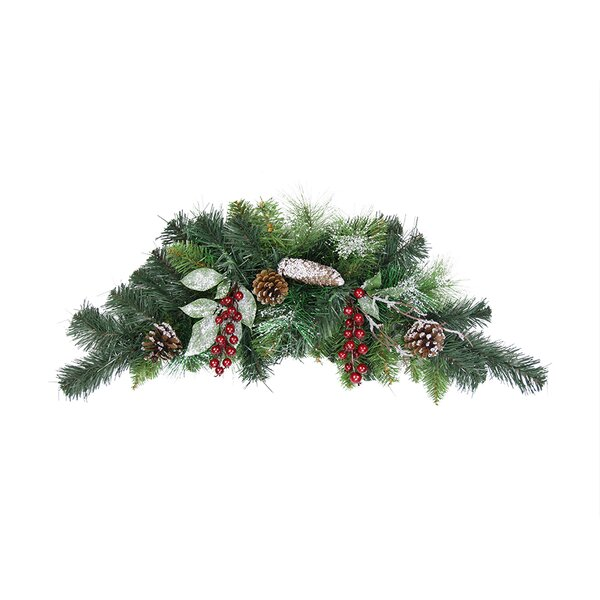 Pre-Decorated Frosted Pine Cone and Berry Artificial Christmas Swag by Northlight Seasonal