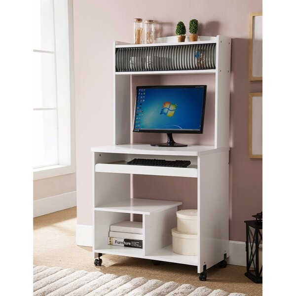 Well Designed AV/Computer Cart with Efficient Storage by Benzara