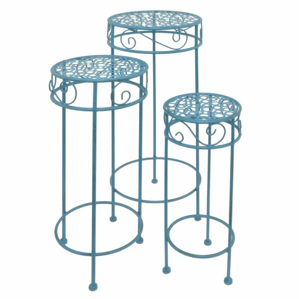 Metal 3 Piece Plant Stand Set by Three Hands