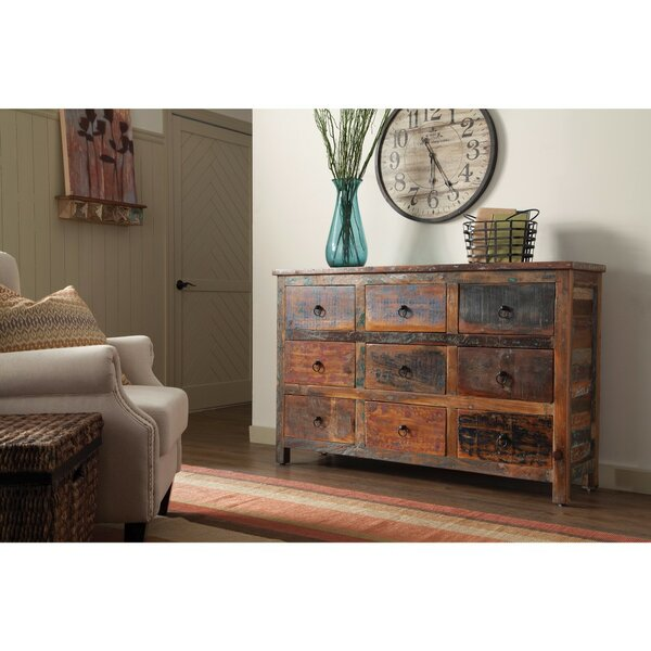 Bicknell Rustic Look Wooden 9 Drawer Accent Chest by Foundry Select
