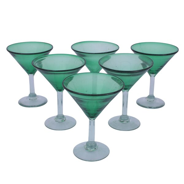 Javier and Efren Vegetation Martini Glass (Set of 6) by Novica