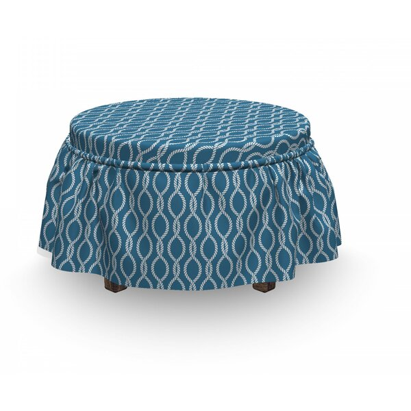 Sailor Knot Ottoman Slipcover (Set Of 2) By East Urban Home