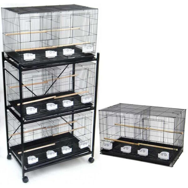 Four Medium Bird Cage with 4 Feeder Doors by YML