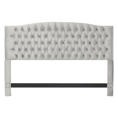 Panel Headboard Queen Pearl Velvet pic