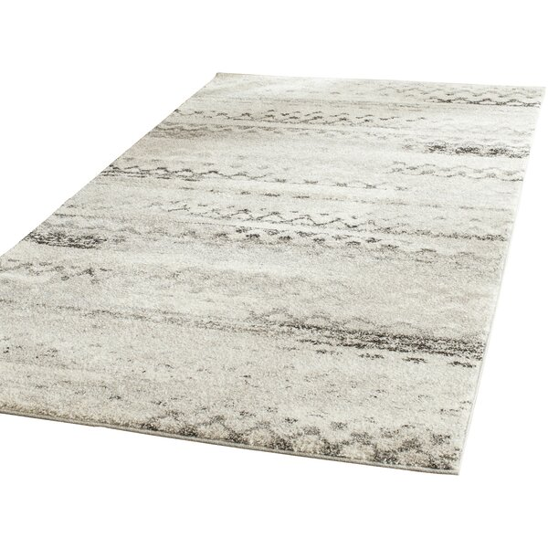 Sabang Cream / Gray Area Rug by Wrought Studio