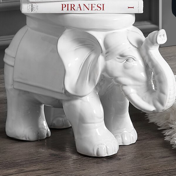 Epperson Elephant Ceramic Garden Stool by World Menagerie