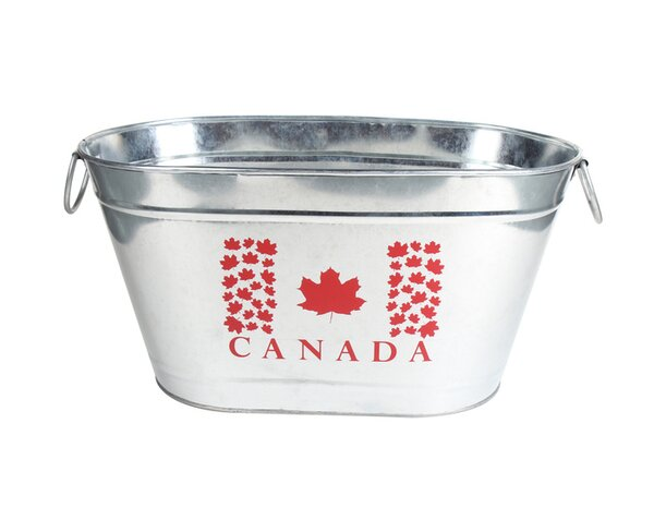 Smalls Galvanized Oval Beverage Tub by August Grove