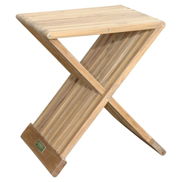 Marilla Folding Teak Side Table by Anderson Teak
