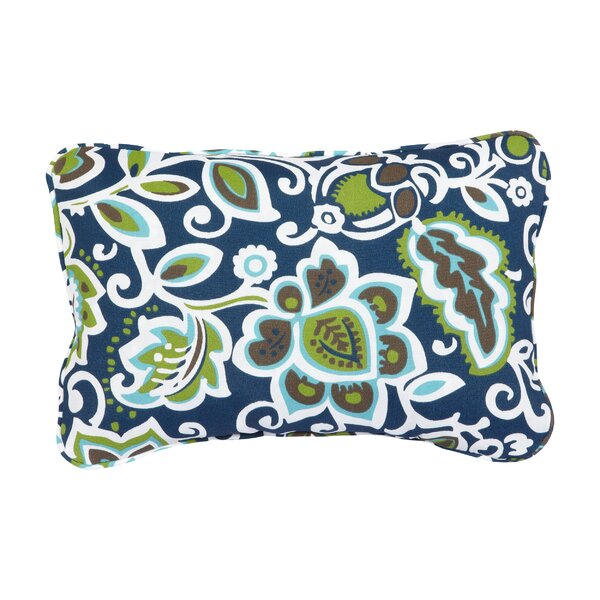 Stella Floral Indoor/Outdoor Lumbar Pillow (Set of 2) by Mozaic Company