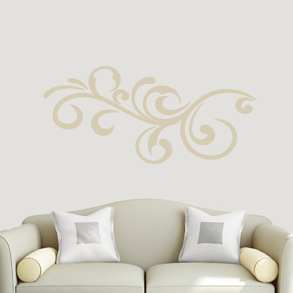 Scroll Wall Decal | Wayfair